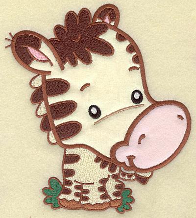 Embroidery Design: Zebra large applique 6.26w X 6.94h