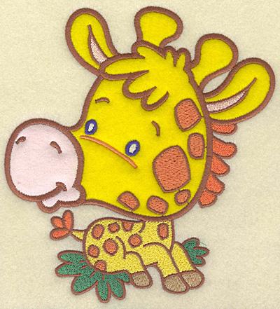 Embroidery Design: Giraffe large 2 appliques  6.47w X 6.98h