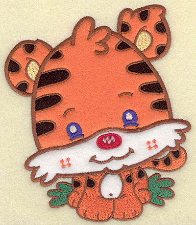 Embroidery Design: Tiger large 3 appliques 5.94w X 6.95h