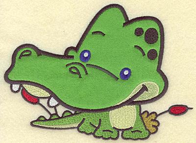 Embroidery Design: Crocodile large applique 7.15w X 5.19h