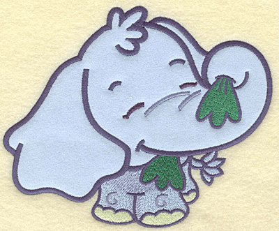 Embroidery Design: Elephant large applique   7.03w X 5.80h