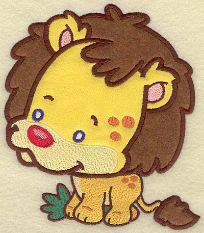 Embroidery Design: Lion large 2 applique 6.01w X 6.94h