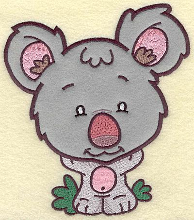 Embroidery Design: Koala Bear large applique 6.14w X 6.92h