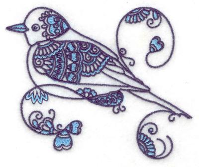 Embroidery Design: Bird A small 3.88w X 3.43h