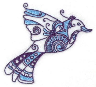 Embroidery Design: Bird D 3.88w X 3.62h