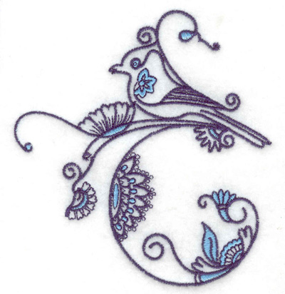 Embroidery Design: Bird F small 3.63w X 3.89h