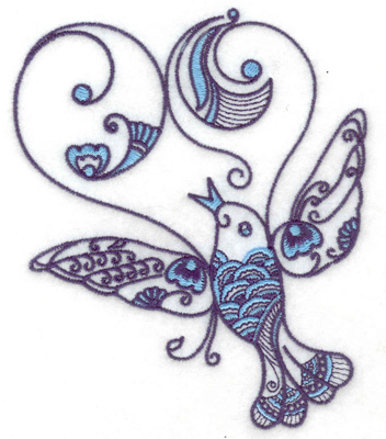 Embroidery Design: Bird G large 4.19w X 4.98h