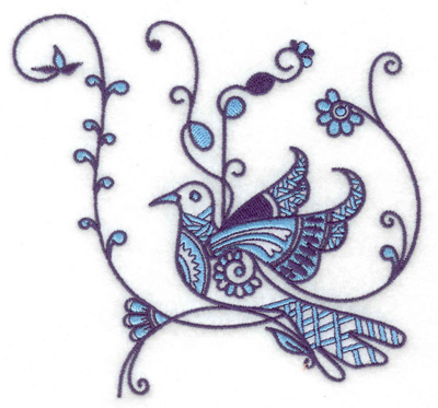 Embroidery Design: Bird H large 4.98w X 4.66h