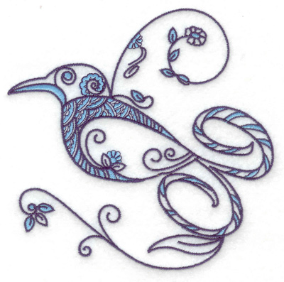 Embroidery Design: Bird J large 4.97w X 4.90h