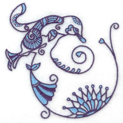 Embroidery Design: Bird K small 3.78w X 3.84h