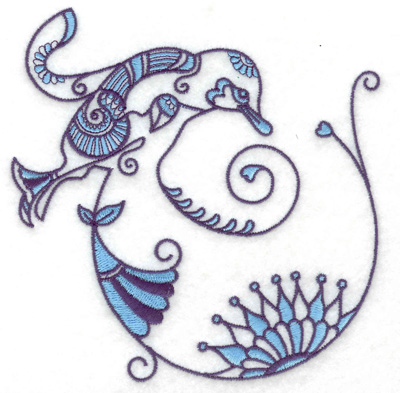 Embroidery Design: Bird K large  4.87w X 4.95h