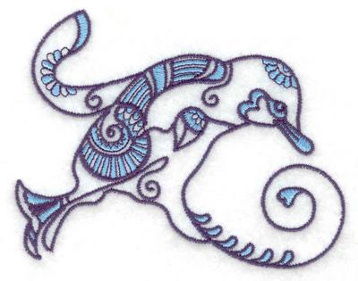 Embroidery Design: Bird K 3.76w X 2.97h