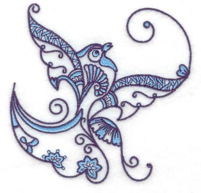 Embroidery Design: Bird L small 3.86w X 3.85h