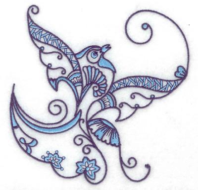 Embroidery Design: Bird L large 4.97w X 4.96h