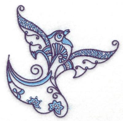 Embroidery Design: Bird L 3.85w X 3.85h