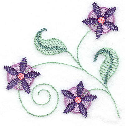Embroidery Design: Floral C 3.73w X 3.82h