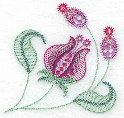 Embroidery Design: Floral F 3.82w X 3.69h