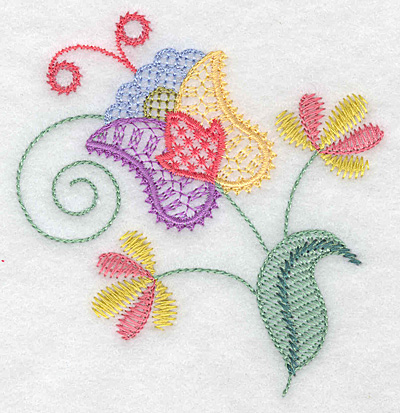 Embroidery Design: Floral L 3.67w X 3.86h