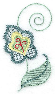 Embroidery Design: Leaf design A 2.17w X 3.88h