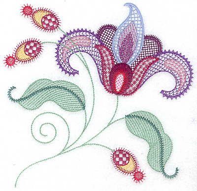 Embroidery Design: Floral O large 7.30w X 7.08h