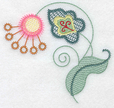 Embroidery Design: Floral R 4.78w X 4.52h