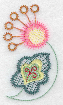 Embroidery Design: Floral S 2.16w X 3.86h