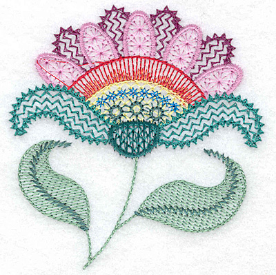 Embroidery Design: Floral X 3.67w X 3.86h