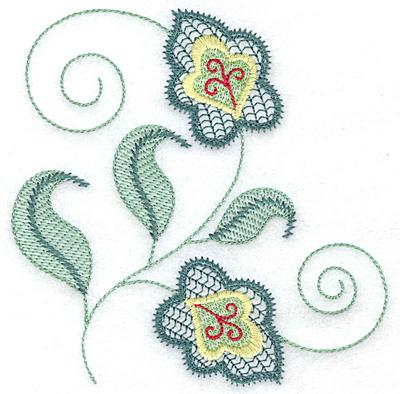 Embroidery Design: Leaf design B 4.78w X 4.80h