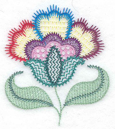 Embroidery Design: Floral Z 3.29w X 3.82h