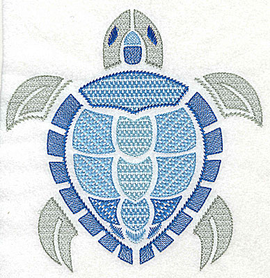 Embroidery Design: Sea Turtle A large 6.73w X 6.92h