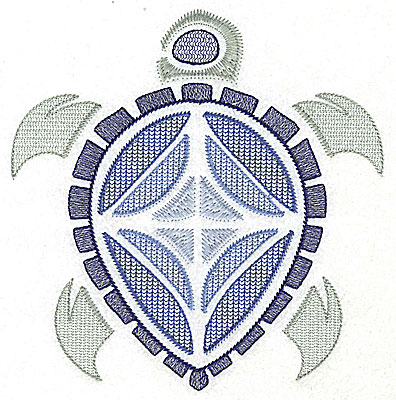 Embroidery Design: Sea Turtle B large 6.71w X 6.94h