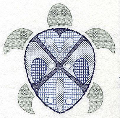 Embroidery Design: Sea Turtle C large 6.96w X 6.93h