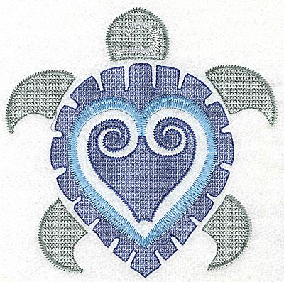 Embroidery Design: Sea Turtle E large 6.94w X 6.96h