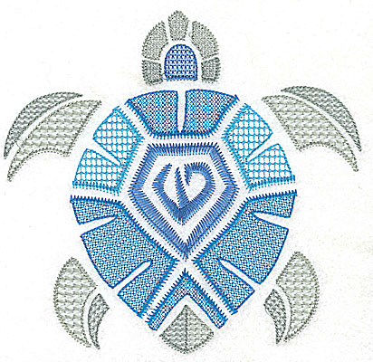 Embroidery Design: Sea Turtle F large 6.90w X 6.68h