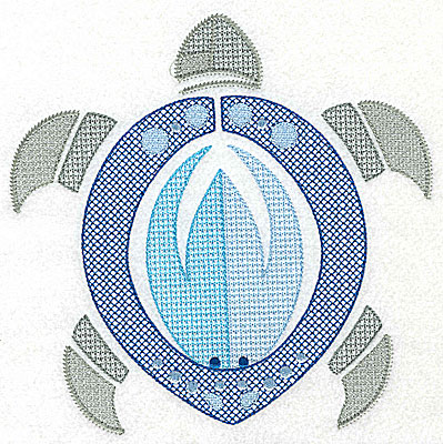 Embroidery Design: Sea Turtle G large 6.98w X 6.97h