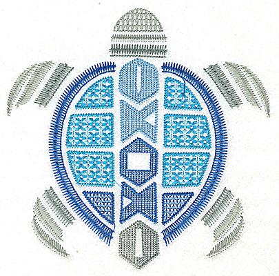 Embroidery Design: Sea Turtle H large 6.91w X 6.89h