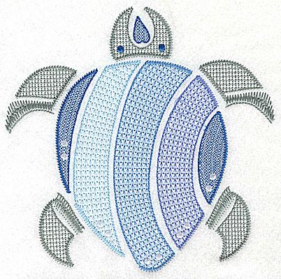 Embroidery Design: Sea Turtle I large 6.95w X 6.96h