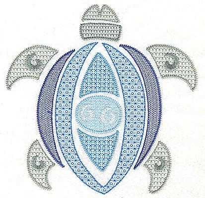 Embroidery Design: Sea Turtle J large  6.92w X 6.92h
