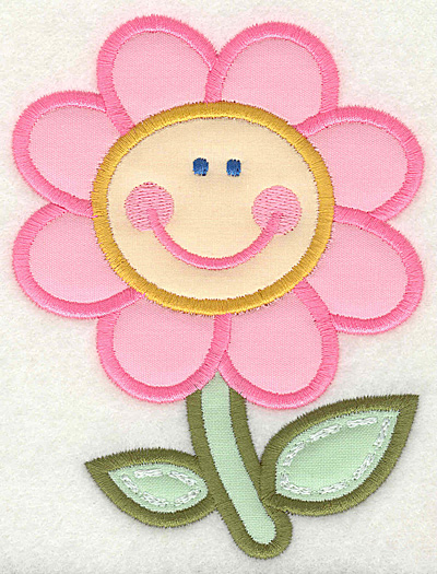 Embroidery Design: Happy Flower 3.75w X 4.93h