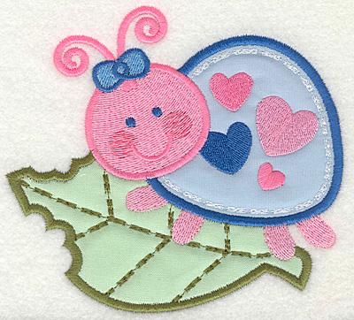 Embroidery Design: Bug on leaf 4.93w X 4.50h