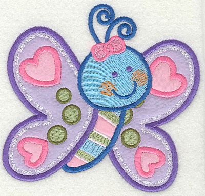Embroidery Design: Butterfly 3 4.93w X 4.68h