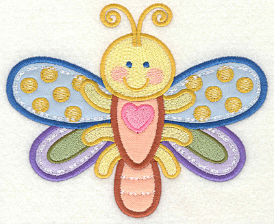 Embroidery Design: Dragonfly 6.06w X 4.93h