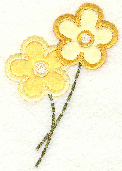 Embroidery Design: Flowers 2.81w X 4.12h