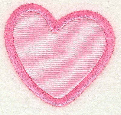 Embroidery Design: Heart 2.12w X 1.93h