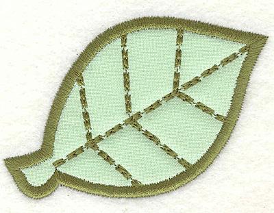 Embroidery Design: Leaf 2.18w X 3.12h