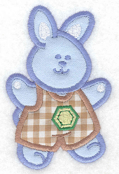 Embroidery Design: Bunny boy double applique small2.51w X 3.90h
