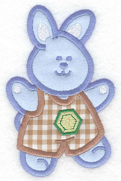 Embroidery Design: Bunny boy double applique large3.21w X 5.00h
