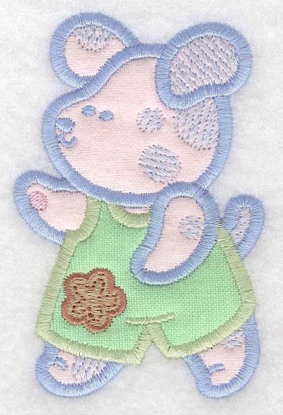 Embroidery Design: Puppy double applique small2.55w X 3.90h