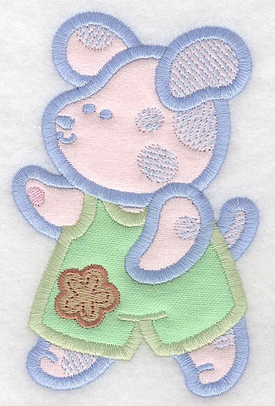 Embroidery Design: Puppy double applique large3.26w X 5.00h