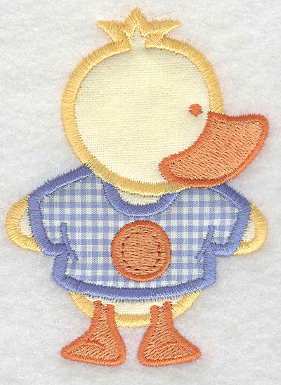 Embroidery Design: Duck double applique small2.84w X 3.90h